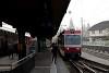 A Waldenburgerbahn 113 pályaszámú vezérlőpótkocsija Liestal állomáson