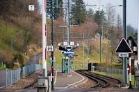 Oberdorf Winkelweg állomás a svájci Waldenburgerbahnon