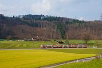 A Waldenburgerbahn Bt 111 Lampenberg-Ramlinsburg és Talhaus között