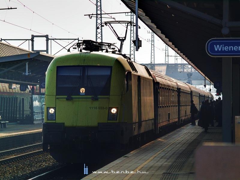 1116 033-0  Telekom Austria  Bécsújhely (Wiener Neustadt) állomáson fotó
