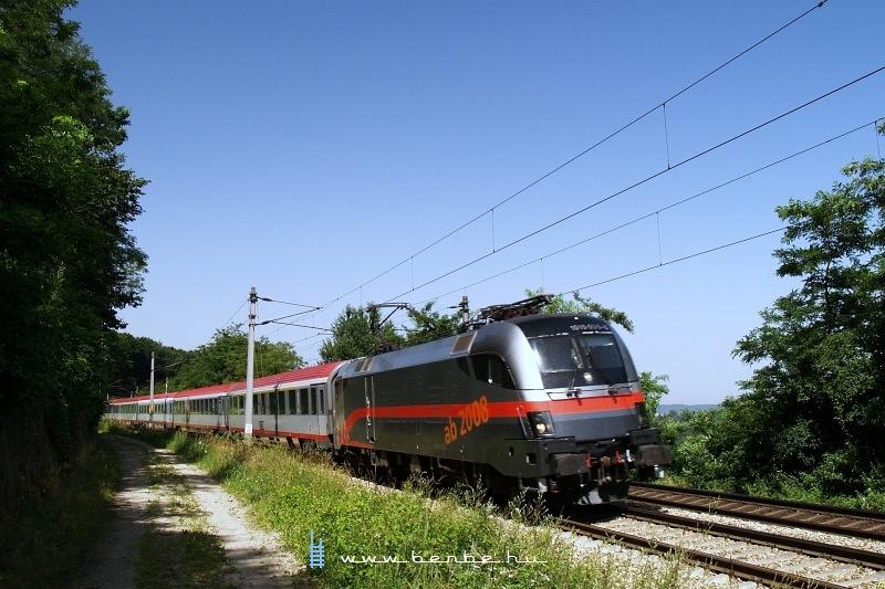 The ÖBB  railjet  paintjob demonstrator 1016 035-6 between Maria Anzbach Unter Oberndorf photo