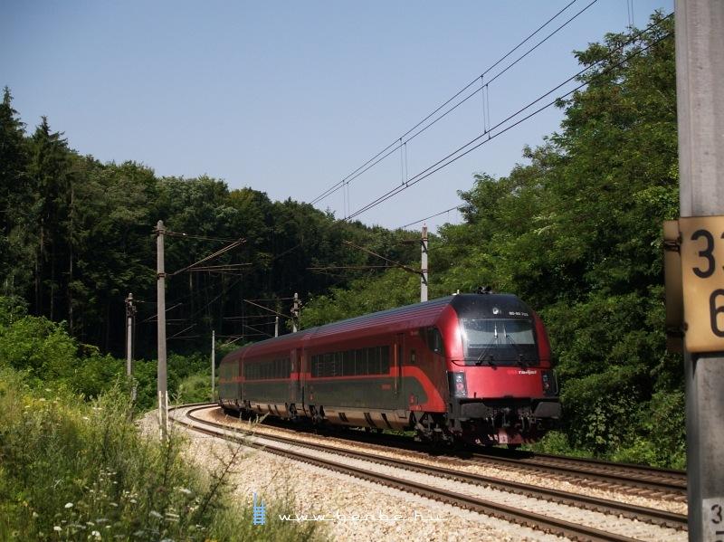 Az ÖBB 80-90 703  Spirit of Linz   railjet -vezérlőkocsi Maria Anzbach és Unter Oberndorf között fotó