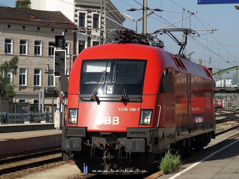 1116 138-7 Wien Westbahnhofon fotó