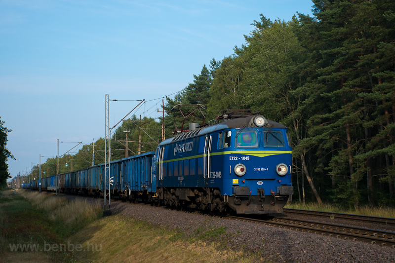 The PKP Cargo ET22 1045 see picture