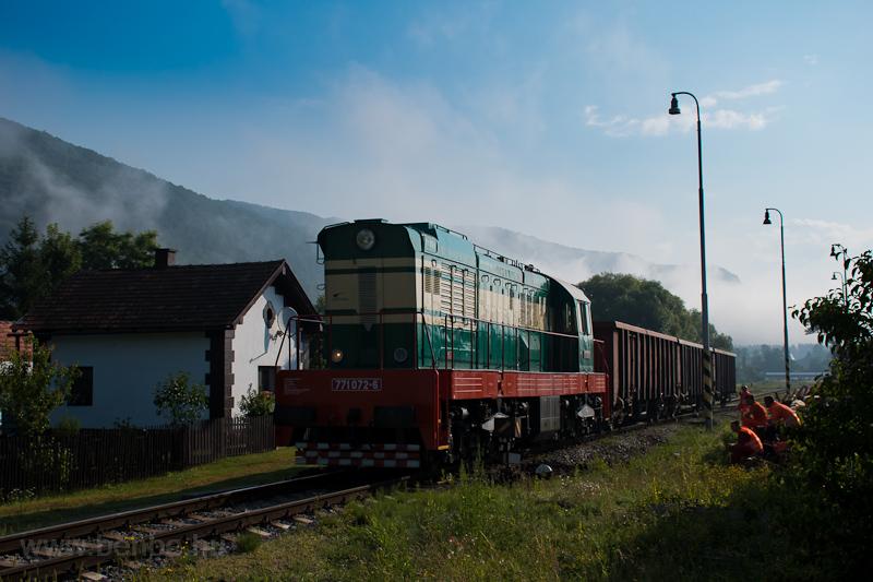 A ZSSKC 771 072-6 Rajecfürdő állomáson fotó