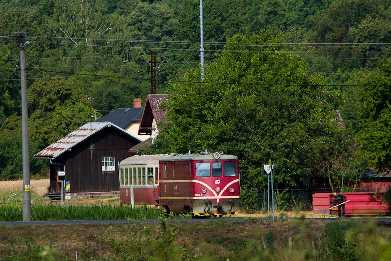 A ČD 705 913-2 Bohušov állomáson fotó