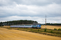 The PKP EP07 1012 seen hauling a flat price TLK75110 fast train between Łęgowo Sulechowskie and Babimost