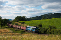 The PKP Cargo ST44-1234 seen between Scinawka Srednia and Nowa Ruda