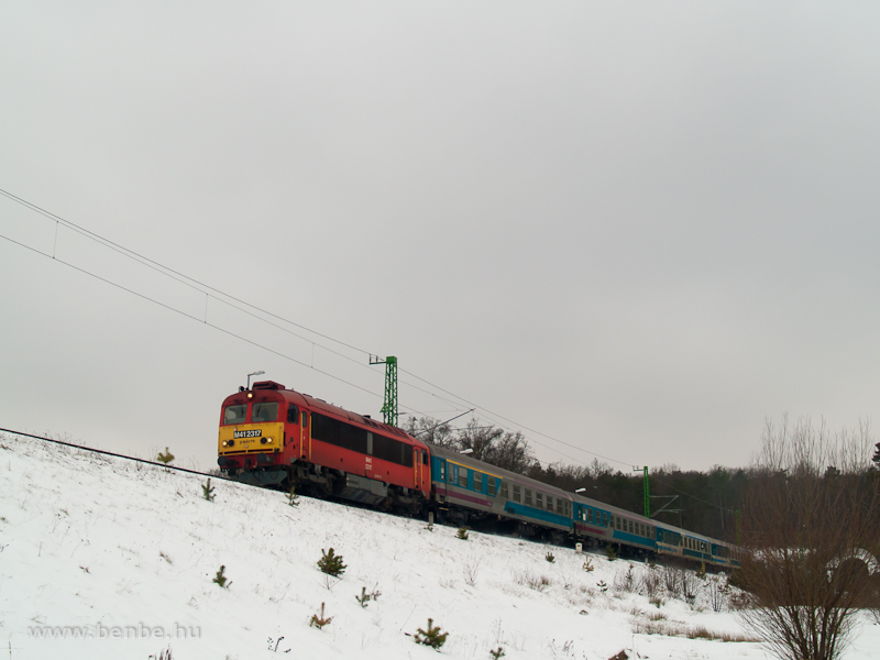 The M41 2317 at Nagyrákos stop photo