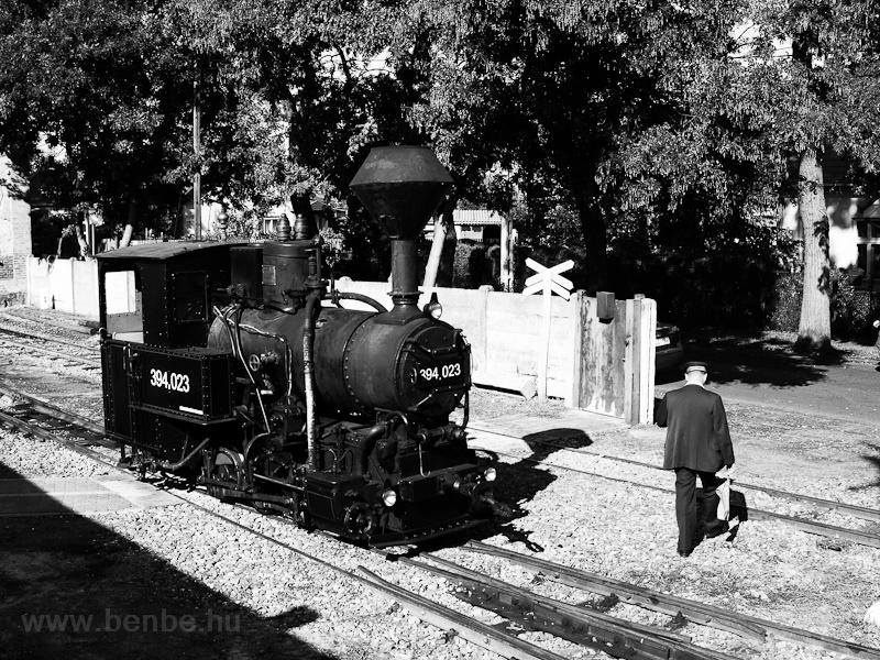 A Közlekedési Múzeum 394,023 pályaszámú gőzmozdonya Debrecen-Fatelepen fotó