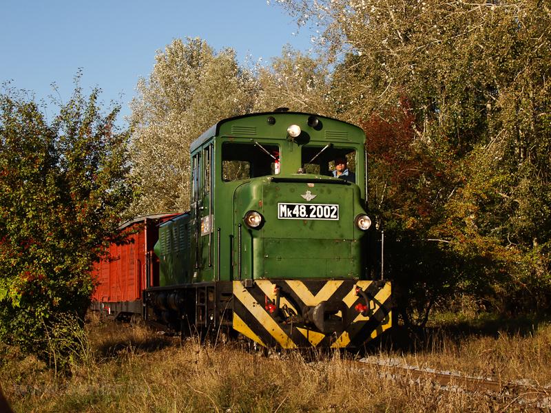 Az Mk48,2002 vegyesvonattal Erdészlak és Csereerdő között fotó
