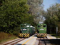 The Mk48,2002 is hauling a mixed passenger/freight train and Mk48,2009 is hauling a passenger train at Erd�szlak
